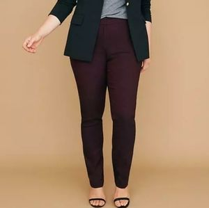 Lane Bryant Allie Burgundy Herringbone Pants